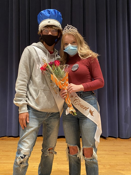 2020 Homecoming King: Xavier Buterbaugh and 2020 Homecoming Queen: Megan Fix
